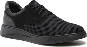 Czarne buty sportowe Ryłko sznurowane