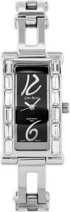 ZEGAREK DAMSKI GINO ROSSI - 7666B1 (zg587b) silver/black + BOX - Srebrny