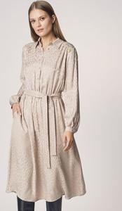 Sukienka Ochnik midi z długim rękawem