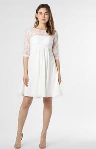 Sukienka Luxuar Fashion mini z okrągłym dekoltem z długim rękawem