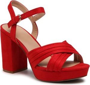 Czerwone sandały Jenny Fairy z klamrami