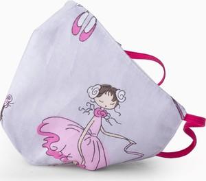 Dziecięca Maseczka ochronna PREMIUM bawełniana 3-warstwowa - wielorazowa - Balet QART - 1 szt