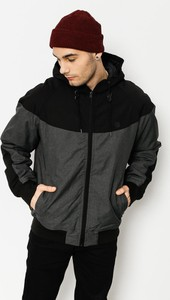 Czarna kurtka Element w stylu casual ze skóry