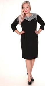 Sukienka Fokus z bawełny z długim rękawem