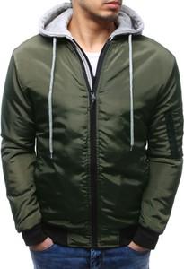 Dstreet kurtka męska bomber jacket zielona (tx2162)