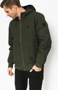 Zielona kurtka Element ze skóry