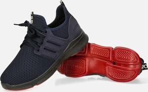 Granatowe buty sportowe Casu sznurowane