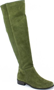 Kozaki Lewski z płaską podeszwą przed kolano w stylu casual