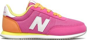 Buty sportowe dziecięce New Balance ze skóry sznurowane
