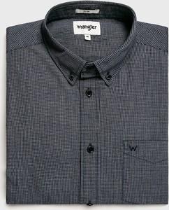 Niebieska koszula Wrangler z bawełny z klasycznym kołnierzykiem