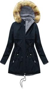 Granatowa kurtka Mhm z bawełny