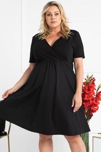 Czarna sukienka KARKO z krótkim rękawem
