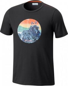Czarny t-shirt Columbia z krótkim rękawem