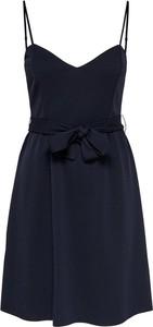 Niebieska sukienka Only na ramiączkach mini z dekoltem w kształcie litery v
