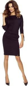 Granatowa sukienka Bergamo ołówkowa mini
