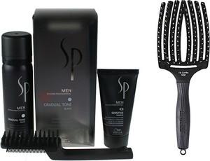 Wella SP Men Gradual Tone Black and Finger Brush | Zestaw do włosów czarnych + szczotka rozmiar L - Wysyłka w 24H!