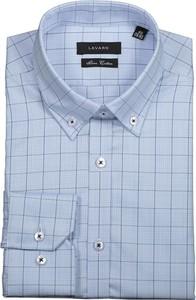 Niebieska koszula Lavard w stylu casual