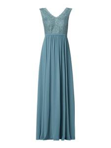 Niebieska sukienka Christian Berg Cocktail rozkloszowana