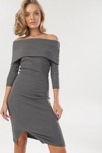 Sukienka born2be z długim rękawem hiszpanka mini