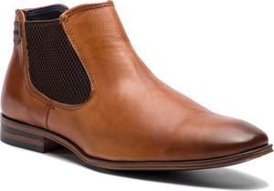 Brązowe buty zimowe Bugatti ze skóry ekologicznej w stylu casual