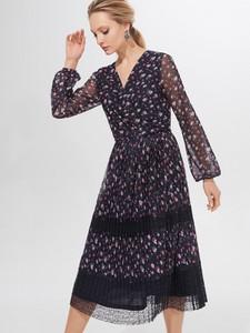 Sukienka Mohito z długim rękawem midi rozkloszowana