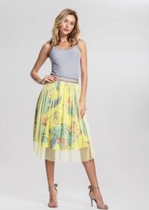 Żółta spódnica Renee midi