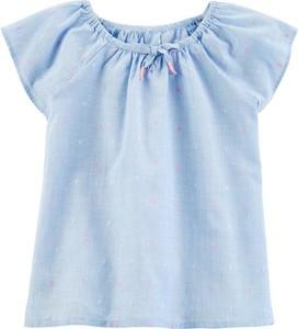 Bluzka dziecięca OshKosh w groszki z bawełny