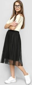 Czarna spódnica Freeshion midi z tkaniny