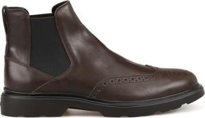 Brązowe buty zimowe Hogan