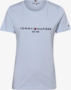 T-shirt Tommy Hilfiger z krótkim rękawem z dżerseju