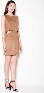 Sukienka Venaton mini z tkaniny w stylu klasycznym