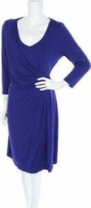Niebieska sukienka Witteveen z długim rękawem