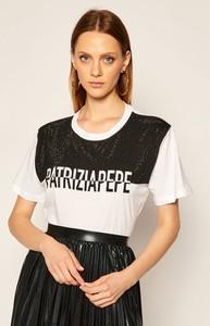 T-shirt Patrizia Pepe z okrągłym dekoltem z krótkim rękawem