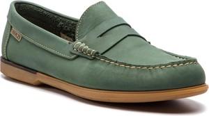 Zielone półbuty Quazi w stylu casual
