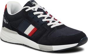 Czarne buty sportowe U.S. Polo ze skóry ekologicznej