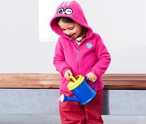 Różowa kurtka dziecięca Tchibo z plaru