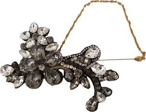 Dolce & Gabbana Kryształ broszka kwiat