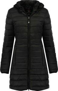 Czarny płaszcz Geographical Norway w stylu casual