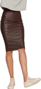 Brązowa spódnica Klaudyna Cerklewicz
