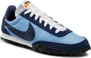 Niebieskie buty sportowe Nike z zamszu sznurowane