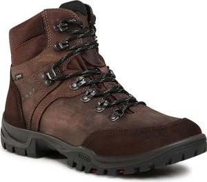 Brązowe buty trekkingowe eobuwie.pl sznurowane