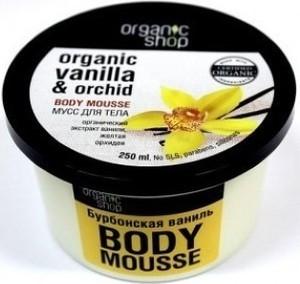 Organic Shop, Vanilla & Orchid Body Mousse, mus do ciała burbońska wanilia i orchidea, 250 ml