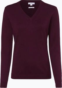 Czerwony sweter brookshire z bawełny