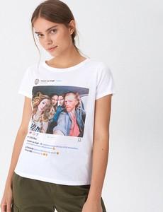 T-shirt House z krótkim rękawem z nadrukiem z okrągłym dekoltem