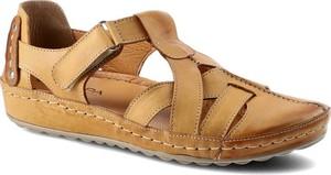 Brązowe sandały Kampa ze skóry