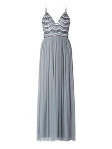 Sukienka Lace & Beads maxi z tiulu