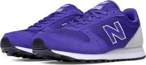Buty sportowe New Balance z zamszu sznurowane na koturnie