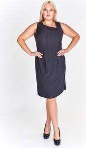 Niebieska sukienka Fokus asymetryczna