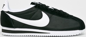 Czarne buty sportowe Nike Sportswear ze skóry z płaską podeszwą cortez