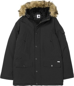 Czarna kurtka Carhartt WIP w stylu casual długa